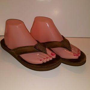 Rainbow sandals well worn sz 8